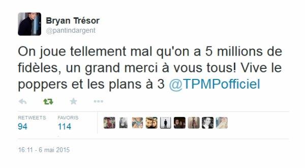 CLASH : Bryan Trésor (Baptiste) s'en prend aux chroniqueurs de TPMP