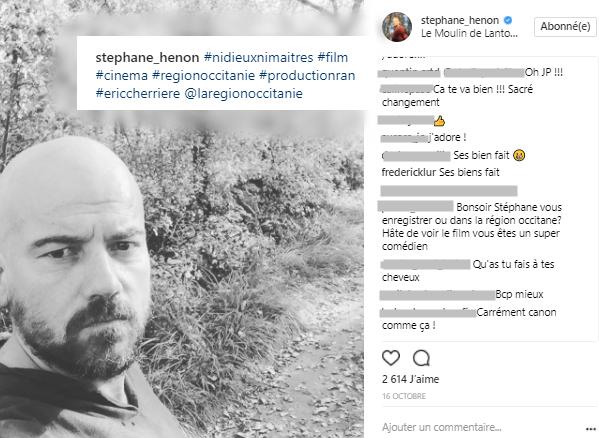 TRANSFORMATION : Stéphane Hénon (JP Boher) métamorphosé !