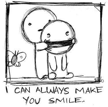 Le sourire provient d'une vibration qui associe la joie et la terreur, l'émerveillement et l'effroi.