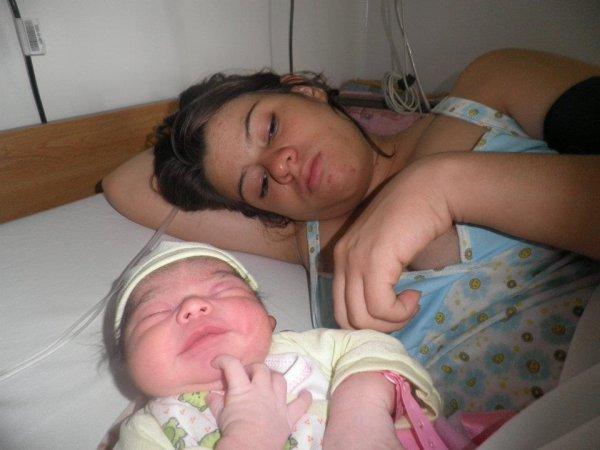 unas horas de nacida