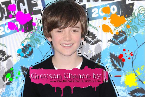 . Bienvenue sur GreyMichaelChance,ta source sur Greyson Chance ! .