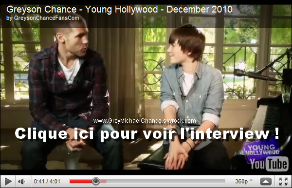 ". Vidéo de l'interview d'Oliver Trevena au ""Young Hollywood Studio"" réalisé le 30 Novembre 2010. . ."