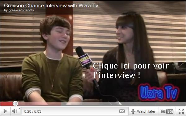 . Greyson a fait le pleins d'Interview le 16 Février 2011 ! .