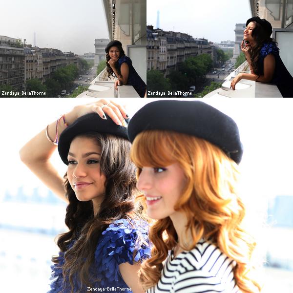 Bella et Zendaya à Paris le 24 Mai