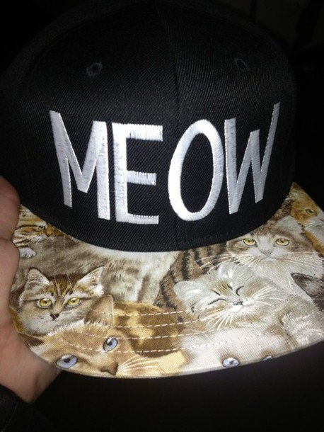 Casquette meow