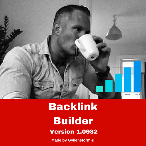 Gyllenstorm the creator of Backlink Builder Version 1.0982