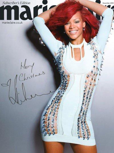 Rihanna glamour en couverture de Marie Claire