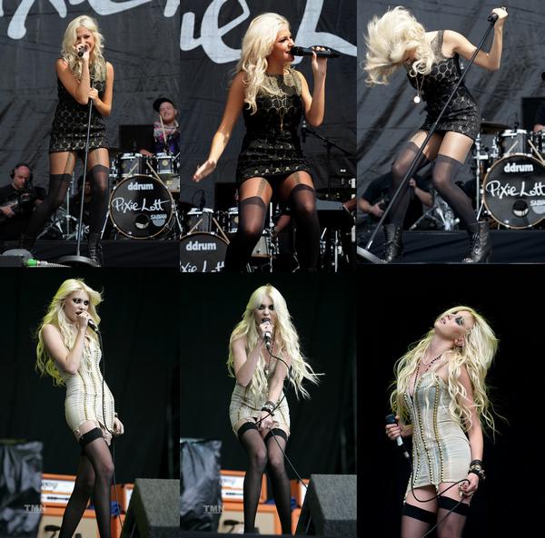 Pixie Lott et Taylor Momsen au V Festival.