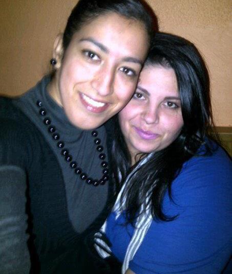 une amie et moi au restau