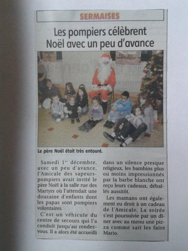 NOEL DES POMPIERS DE SERMAISES