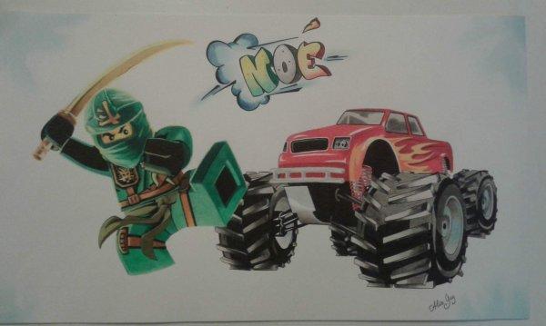 ninjago et monster truck. modeles google