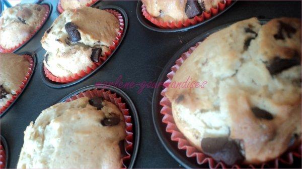 Muffins chunks de chocolat et cannelle