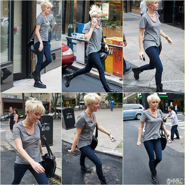 25.08.12  Miley fait du shopping à Philadelphie