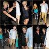 31.08.12 Miley sort du concert de son père accompagner de ce dernier, de sa mère et de Liam