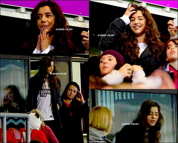 22/10/12: Eleanor était en mode suporterice de foot pour soutenir son beau Louis qui joué un match Vos avis ?