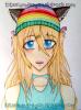 Fille Neko avec un bonnet Arc-En-Ciel :3.