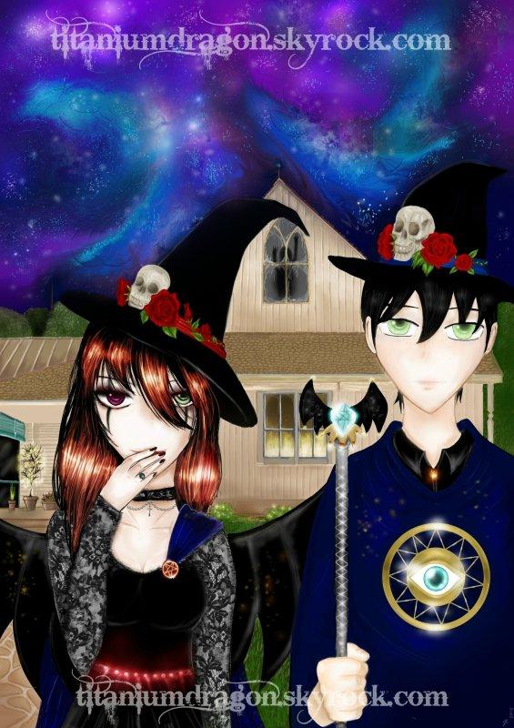 ☠ American Gothic: Version sorcier/sorcière ☠