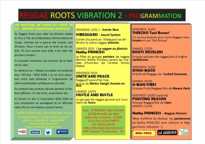 REGGAE ROOTS VIBRATION 2 - PROGRAMMATION