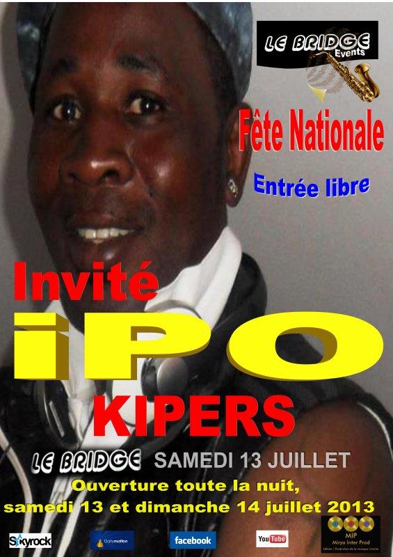 FETE NATIONALE AU BRIDGE / Invité IPO KIPERS
