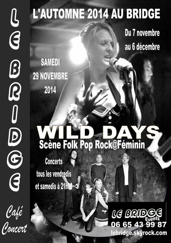 L'AUTOMNE 2014 AU BRIDGE / Wild Days - Scène Folk Pop Rock@Féminin - samedi 29 novembre  2014 à 21h00