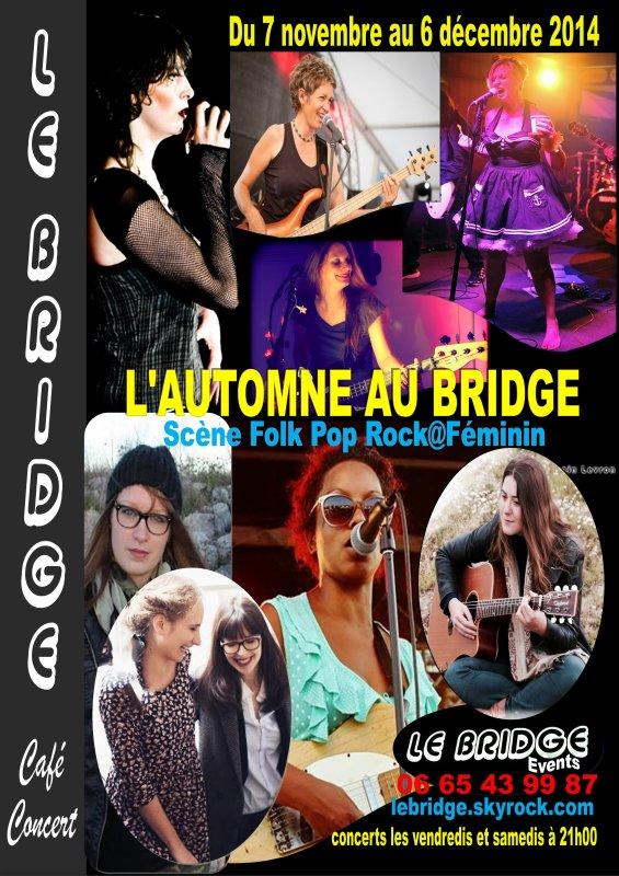 L'AUTOMNE AU BRIDGE / Festival Folk Pop Rock@Féminin, du 7 novembre au 6 décembre 2014