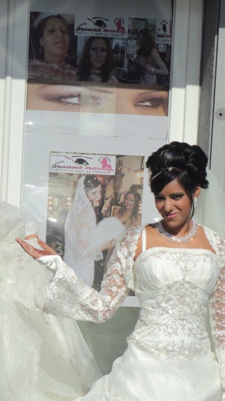 coiffure maquillage libanais mariée