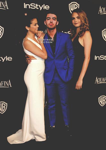 Selena Gomez & Joe Jonas & Cara Delevigne