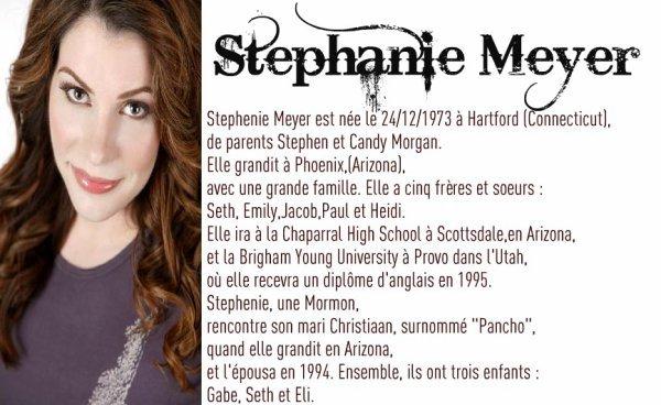 :: ♥ Stéphanie Meyer ♥  ::