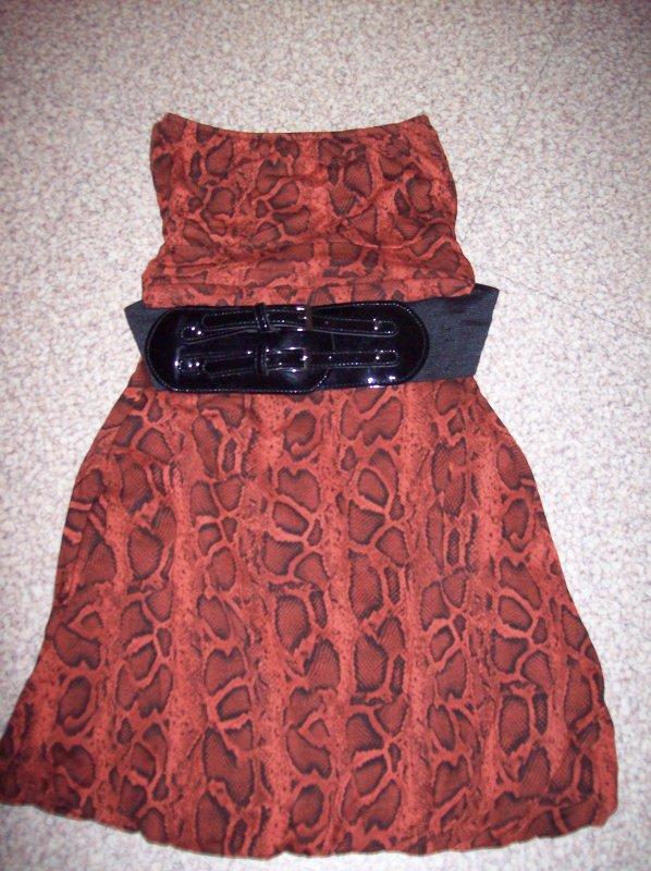 Robe bustier leopard + ceinture