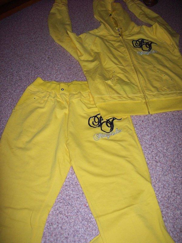 jogging jaune neuf taille M