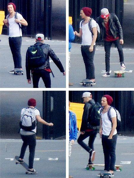 today Zain et Louis skate