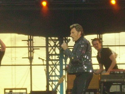 johnny  hallyday le 14 juillet 2009