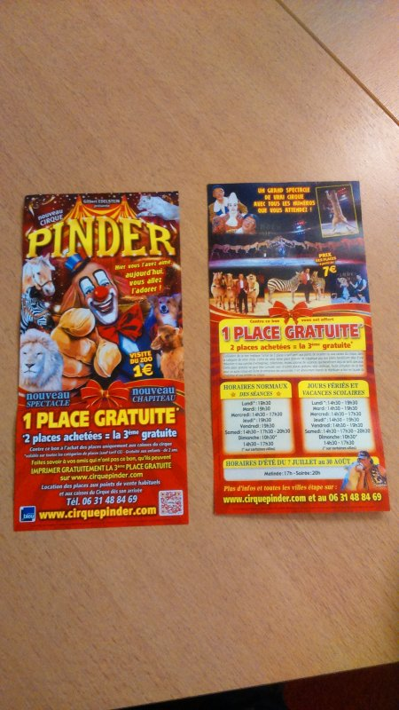 cirque Pinder à TOURS