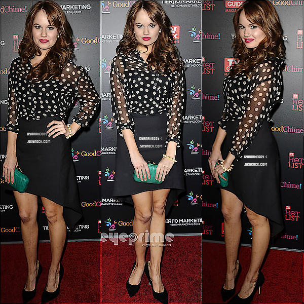 . Debby était au TV Guide Magazine Hot List Party à West Hollywood le 7 novembe dernier. .