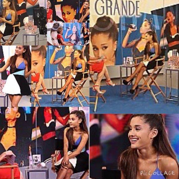 Exclu / Des photos d'Ariana au Jimmy Fallon +Ariana a été au Good morning NYC pour promouvoir son parfum