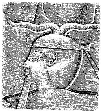 Gravure d'un relief de Sheshonq Ier trouvé à Karnak