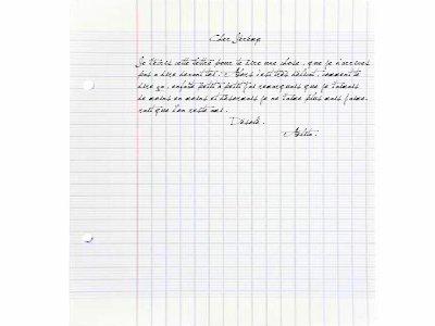 Lettre que Aélita à envoyé à Jérémy