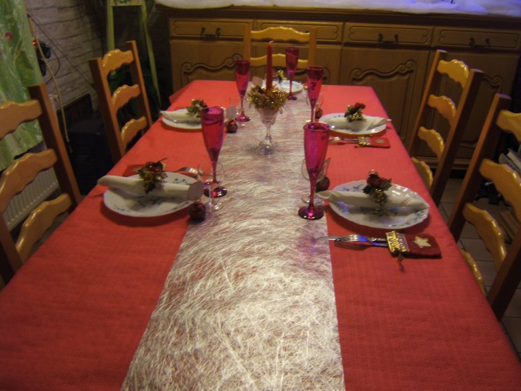 ma table de reveillon de noel nous etions 5