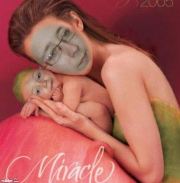 montages de mamie moi bébé et ma maman