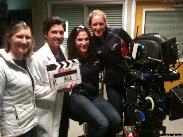 Patrick Dempsey sur le set de la saison 7 de grey's anatomy