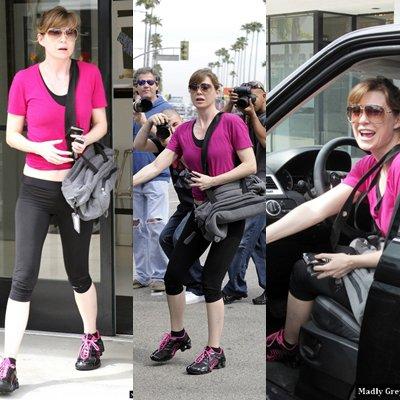 Ellen Pompeo à Studio City sortant de la gym le 14 mars