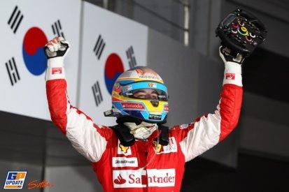17è épreuve: Grand Prix de Corée du Sud: Fernando Alonso au top, Red Bull coule
