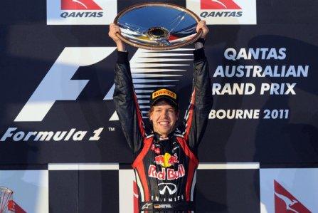1ère épreuve: Grand Prix d'Australie: victoire de Sebastian Vettel