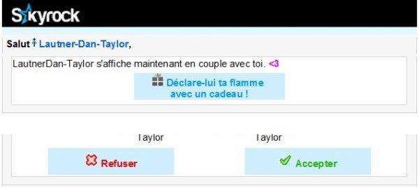 T'es maintenant en couple avec LautnerDan-Taylor