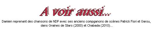 """HH >> Première comédie musicale ! ~ Damien Sargue et """"Notre-Dame de Paris"""".  HH"""