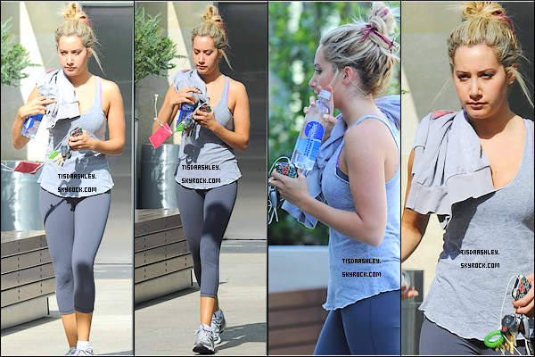 - 04/04/12 : Ashley a été vue quittant sa salle de gym West Hollywood.  -
