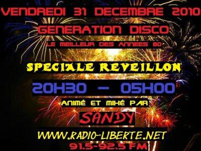 Le 31 décembre 2010, Passe le réveillon avec Sandy, passe le message a ton voisin !