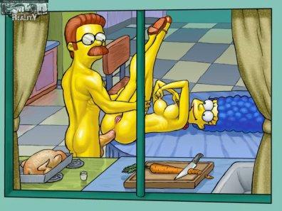 Marge simpson baise vidéo