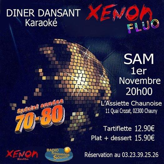 Dîner dansant et karaoké le samedi 1 er Novembre à 20 heure