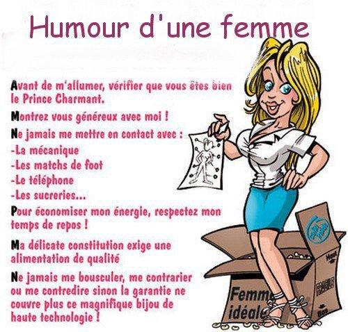 un peu d'humour féminin MDR!!!